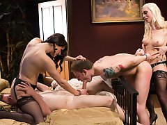 femdom orgy   most hot and cruel scenes from female